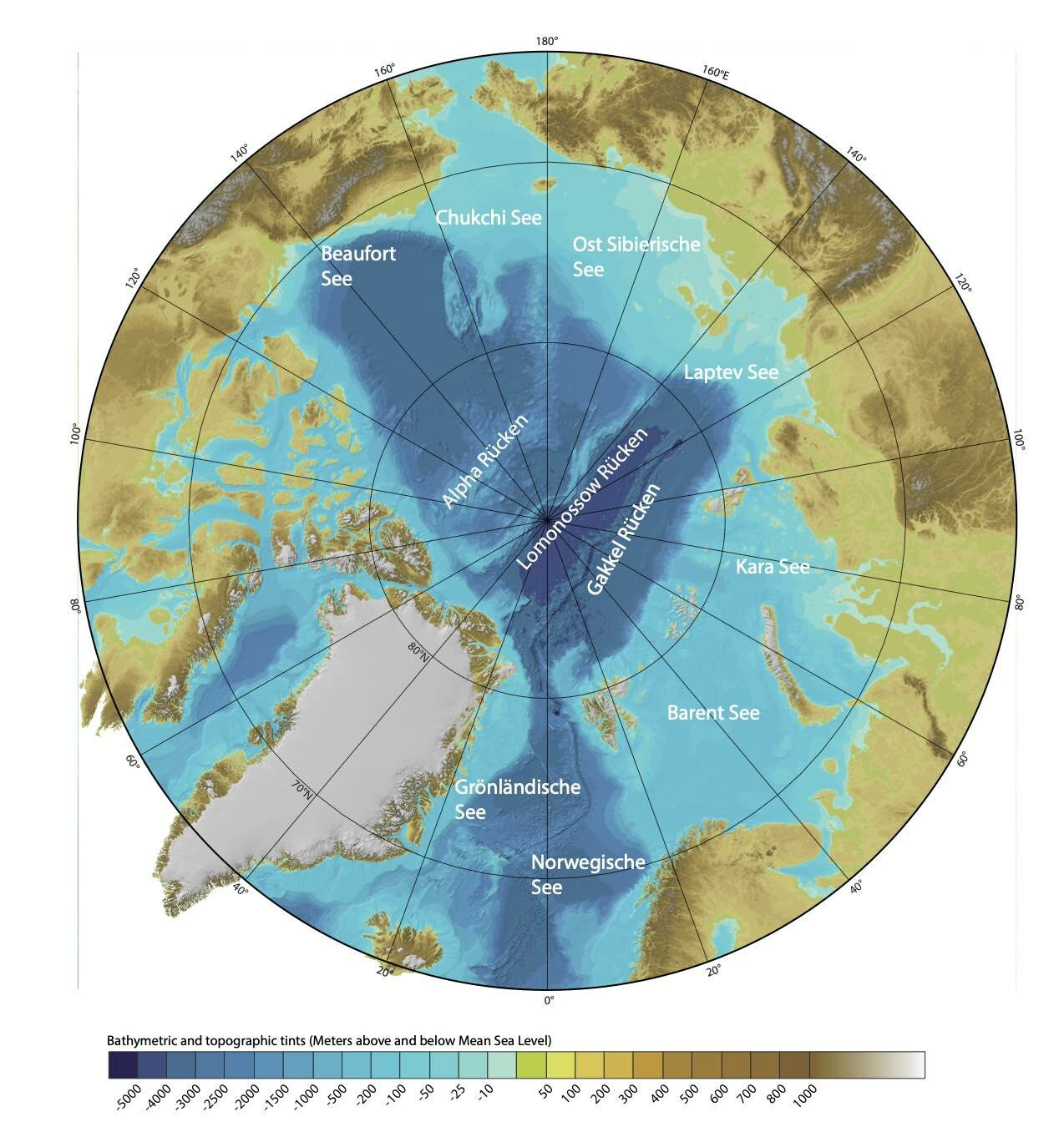 Karte der Arktis