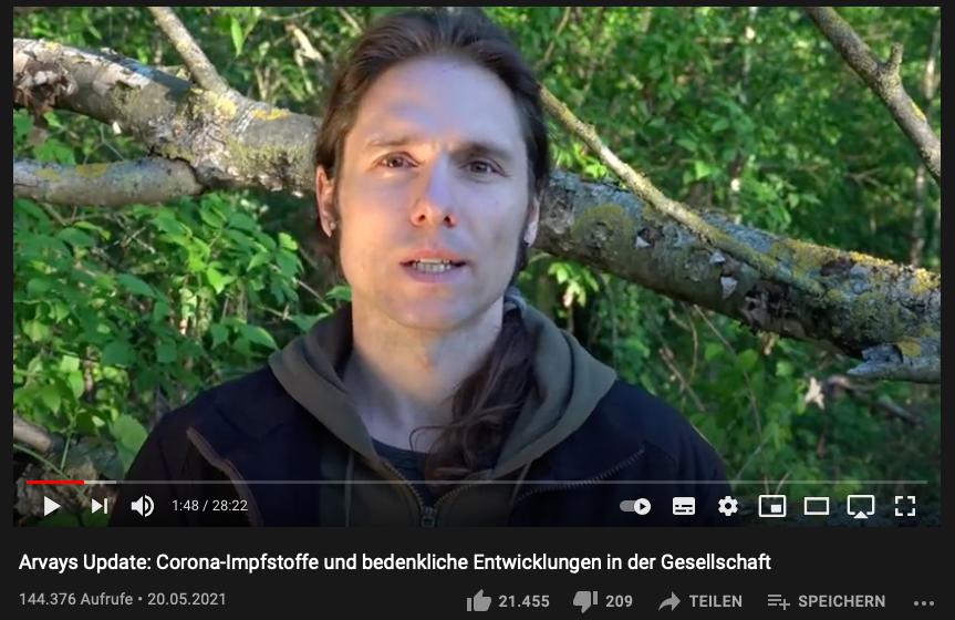 Ausschnitt YouTube Clemens Arvay
