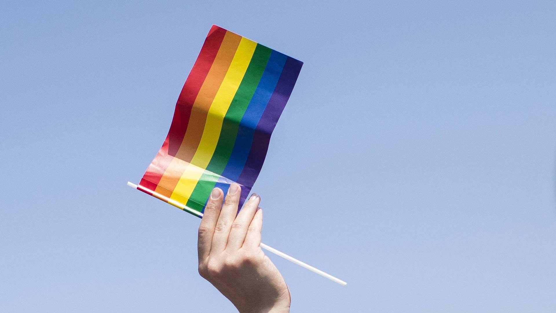 Regenbogenfahne.