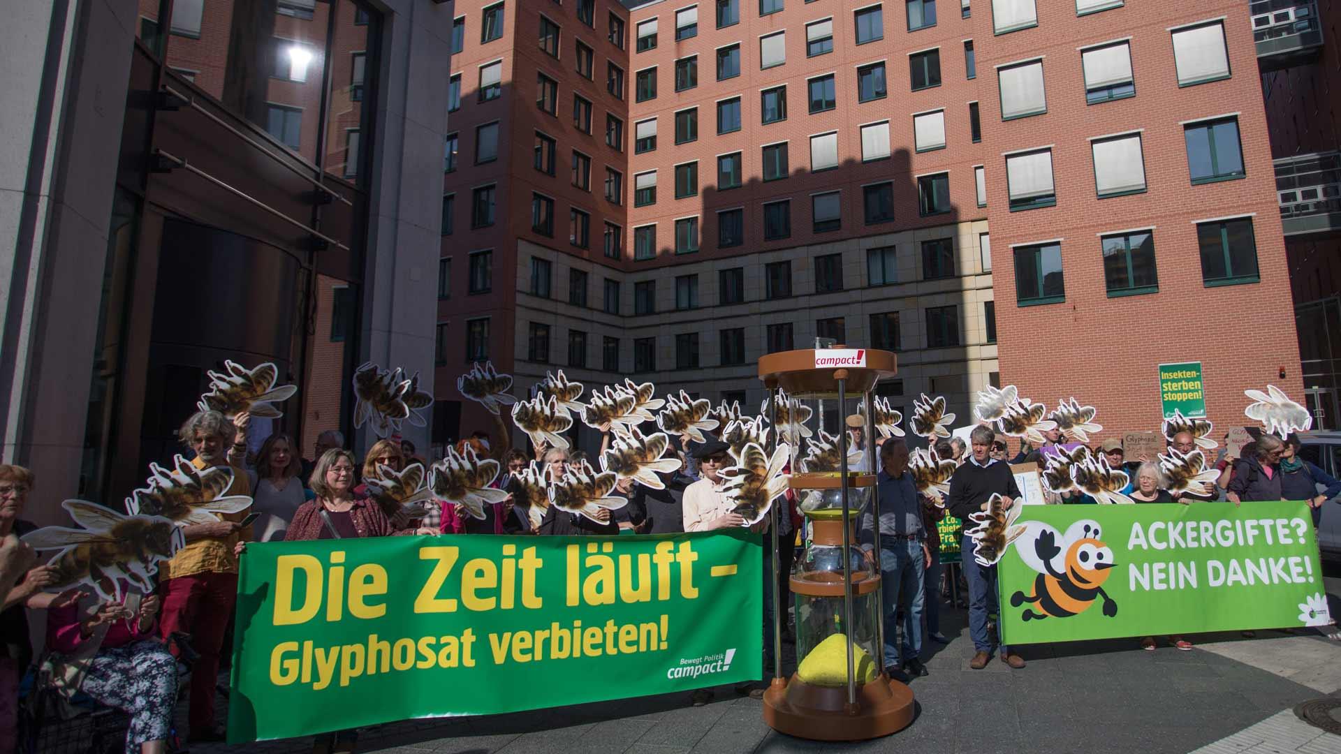 Demonstration gegen Glyphosat.