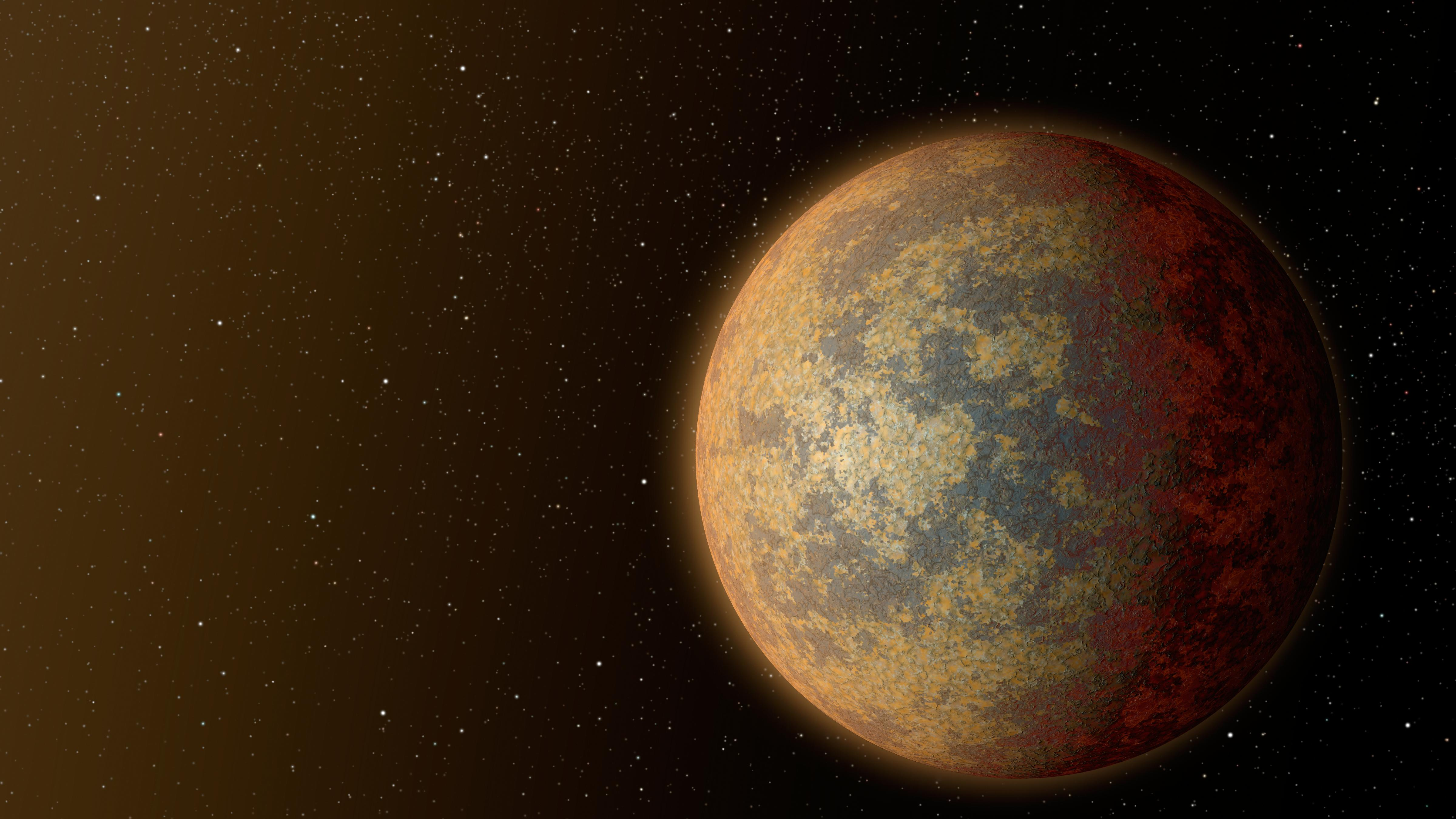 Ein Exoplanet im Weltall.