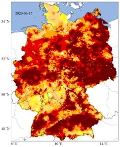 Seit dem Rekordsommer 2018 ist es in Deutschlands Böden zu trocken. Quelle: UFZ-Dürremonitor/ Helmholtz-Zentrum für Umweltforschung
