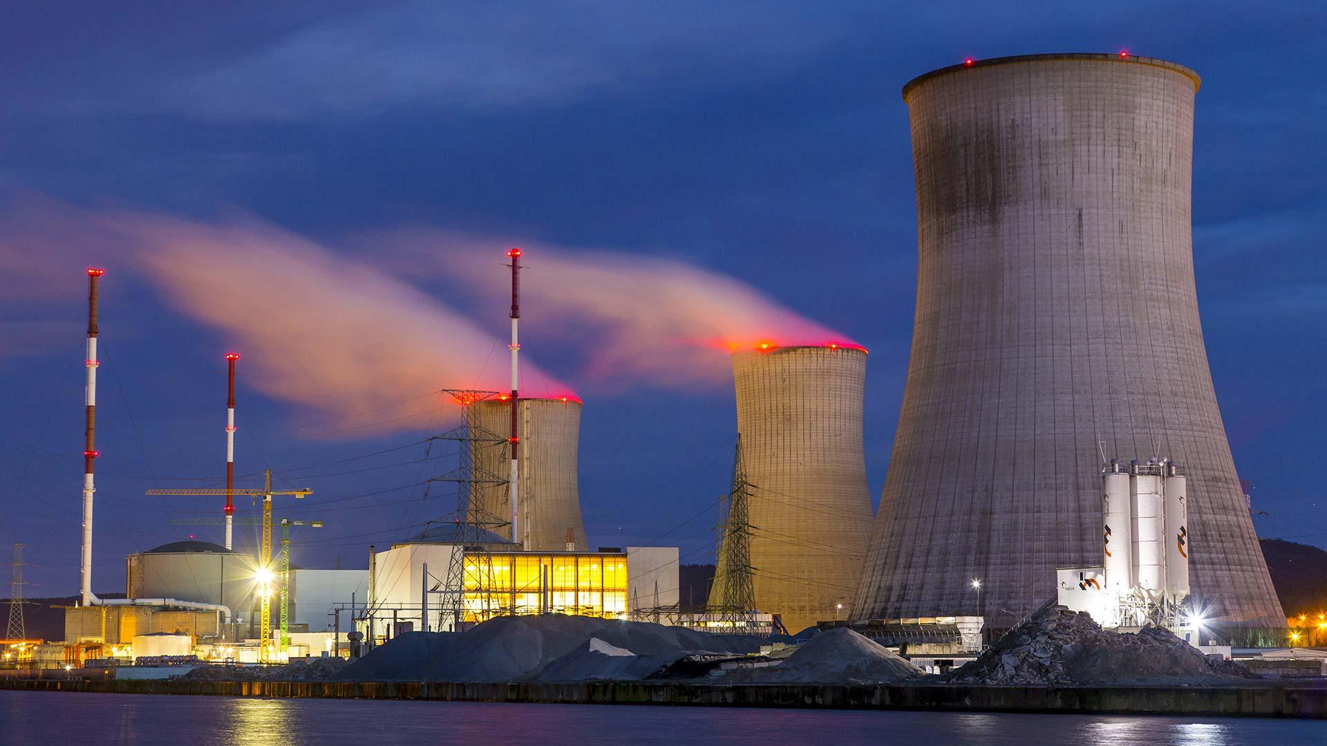 Kernkraftwerk Tihange in Huy, Belgien.