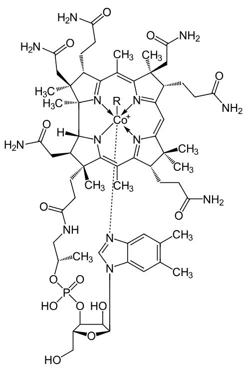 Strukturformel Vitamin B12
