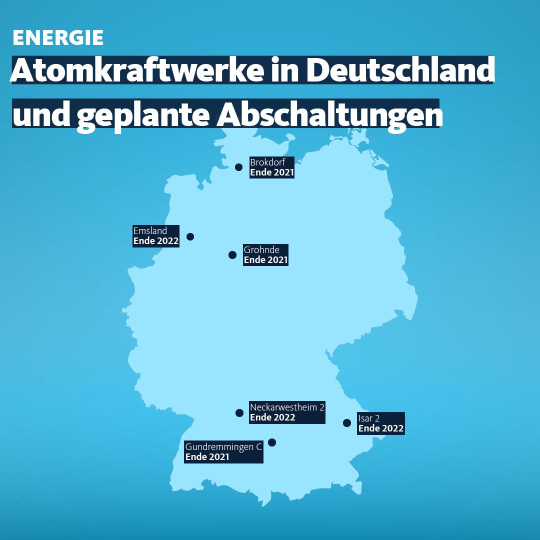 Atomkraftwerke in Deutschland.